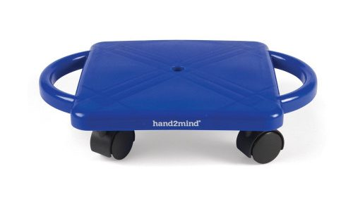 #1. Hand2mind Indoor Scooter Board with Safety Handles.