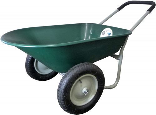 #1. Marathon Industries 2 Wheel Wheelbarrow