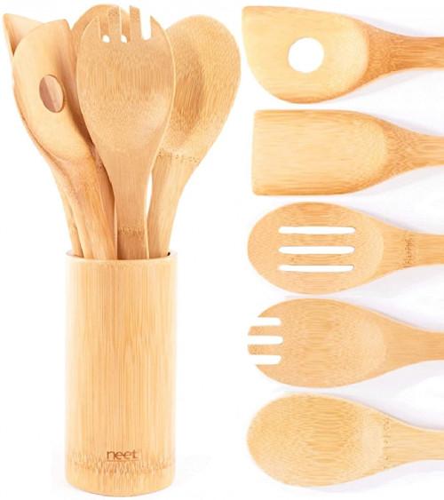 #1. NEET Bamboo Wooden Utensils