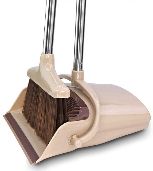 #10. Belleford Brooms and Dustpans with Large Capacity
