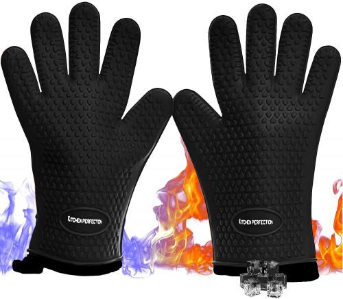 #10. Kitchen Perfection 2-Lyaer bbq Gloves