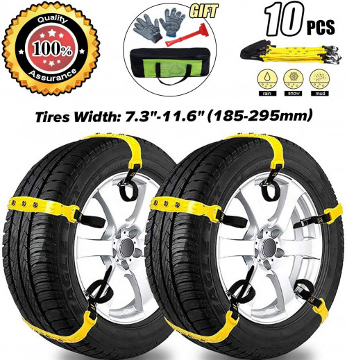 #10.  MeiLiMiYu Anti Slip Adjustable Tire Chains