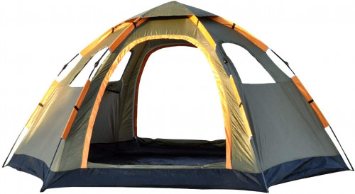#10. Oileus Pop Up 5 People Camping Tent