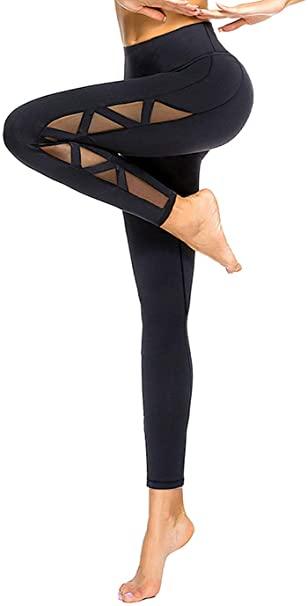 #10. romansong Mesh Sexy Yoga Pants