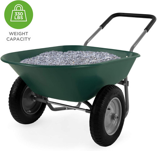 #2. Best Choice Products 2 Wheel Wheelbarrow