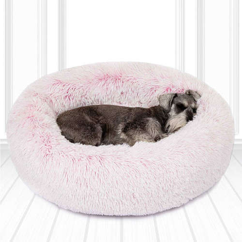 #2. Friends Forever Donut Faux Fur Pillow