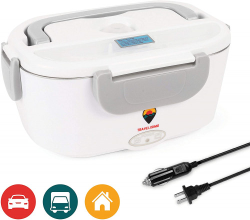 #2. Travelisimo 2-in-1 Electric Lunch Box