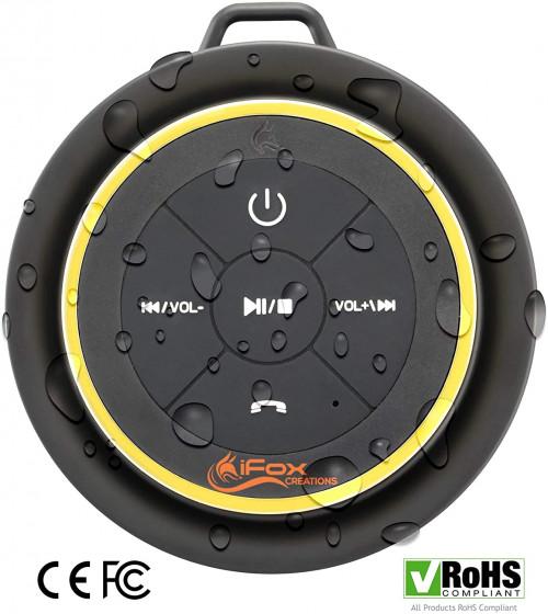 #2. iFox Creations Waterproof Shower Speaker