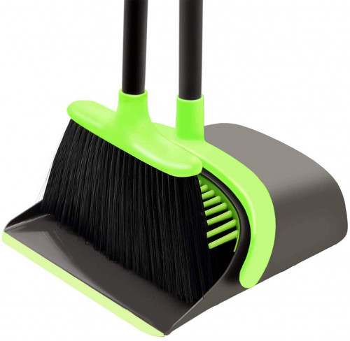 #3. SANGFOR Brooms and Dustpans with Long Handle