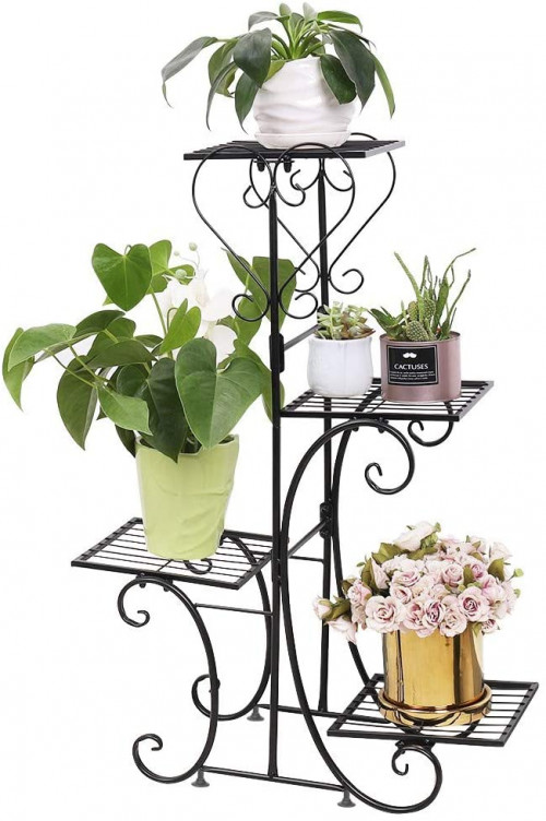#3. Unho Indoor Durable Plant Stands for Multiple Plants