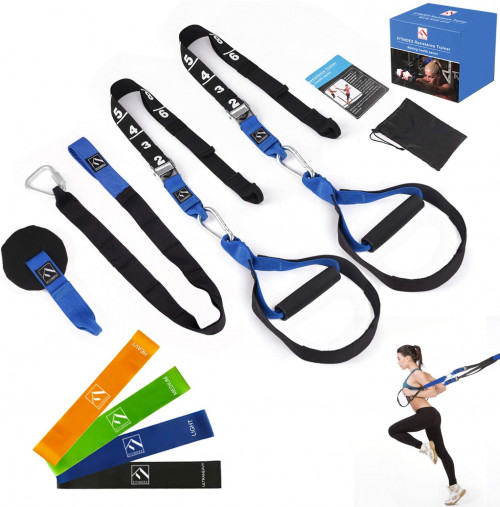 #4. FITINDEX Suspension Training Straps