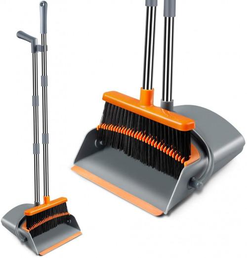 #4. Kelamayi Expandable Brooms and Dustpans