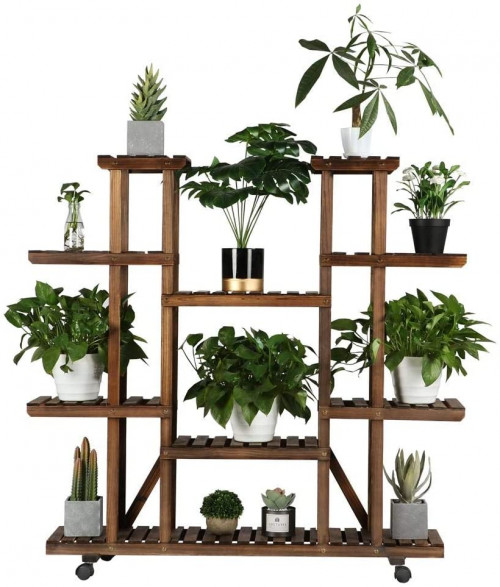 #4. YAHEETECH 7-Platform Indoor Plant Stands for Multiple Plants
