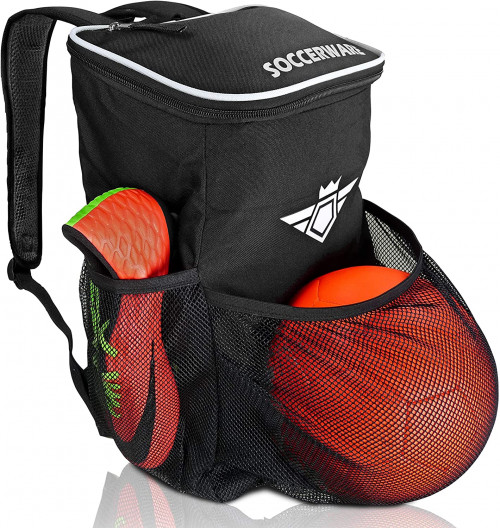 #4.Soccerware Backpack with Ball Holder Compartment