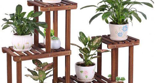 #5. COOGOU Adjustable Indoor Plant Stands for Multiple Plants