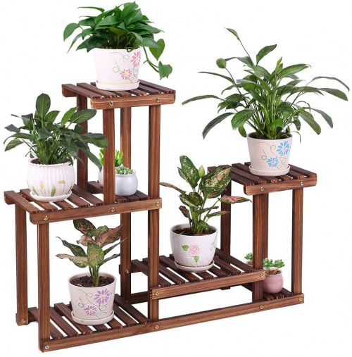 #5. COOGOU Adjustable Indoor Plant Stands for Multiple Plants