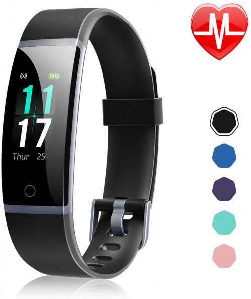 #5. Letsfit Fitness Tracker ID132 Black