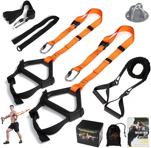 #5. MOULYAN Portable Suspension Training Straps