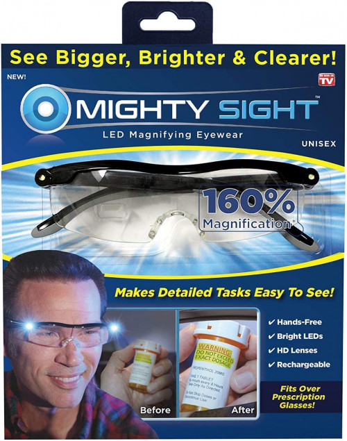 #5. Mighty Sight Magnifying Glasses with LED