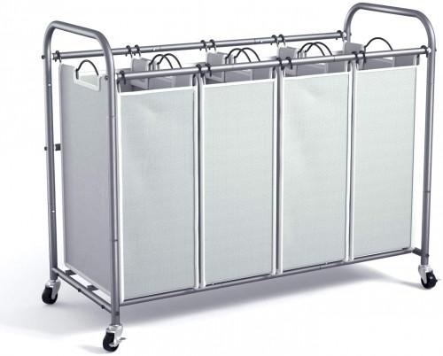 #5. ROMOON Metal Laundry Sorter