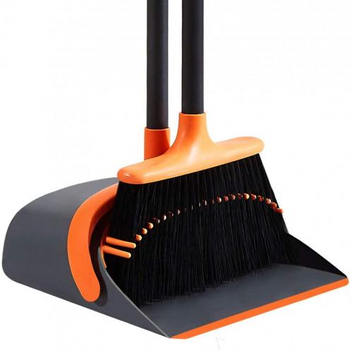 #5. SANGFOR Upright Brooms and Dustpans Set