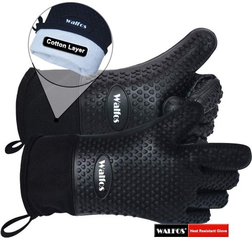 #5. Walfos Insulated bbq Gloves
