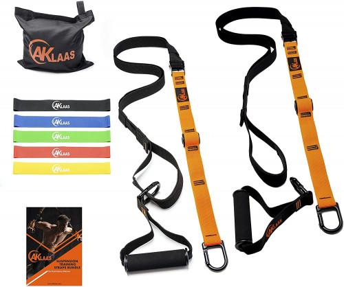 #6. AKLAAS Lightweight Suspension Training Straps