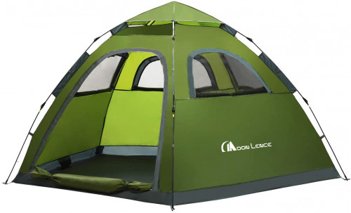 #6. MOON LENCE Lightweight 5 People Camping Tent