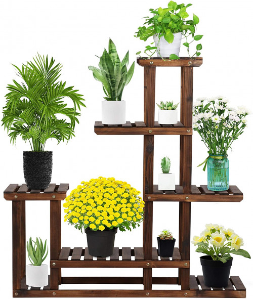 #6.YAHEETECH Indoor Plant Stands for Multiple Plants