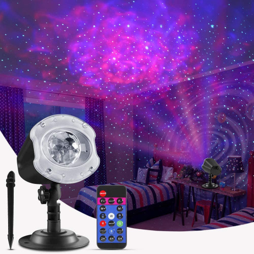 #6. ECOWHO Adjustable Speed Christmas Projection Lights