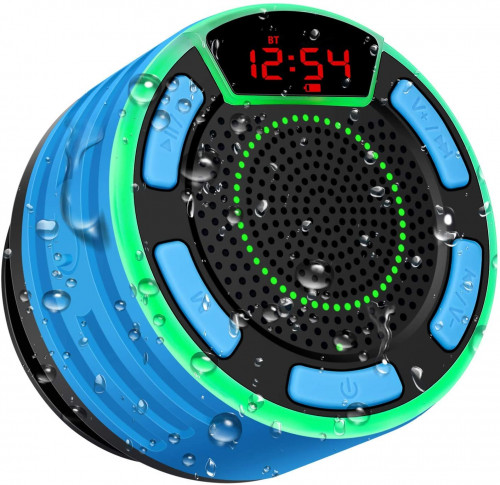#7. BassPal Waterproof Shower Speaker
