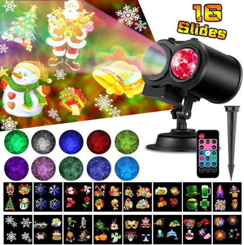 #7. Elec3 Waterproof Christmas Projection Lights