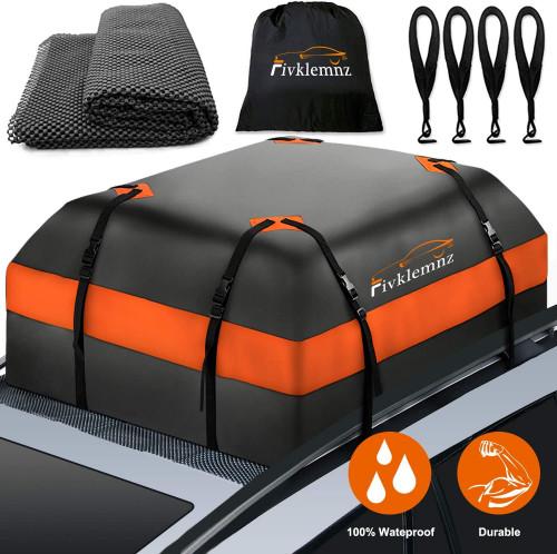 #7. FIVKLEMNZ Car Roof Bag