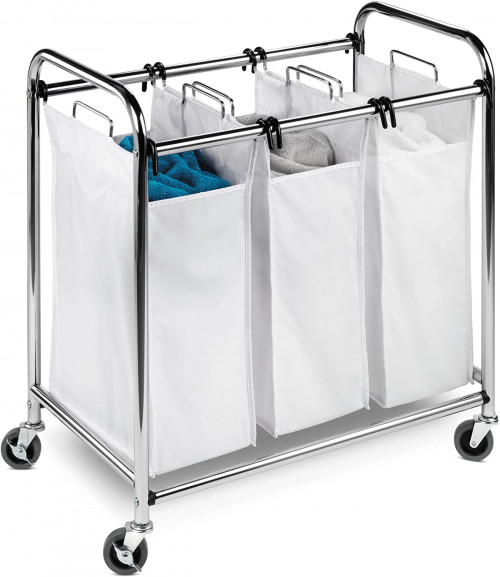 #7. Honey-Can-Do Triple Laundry Sorter