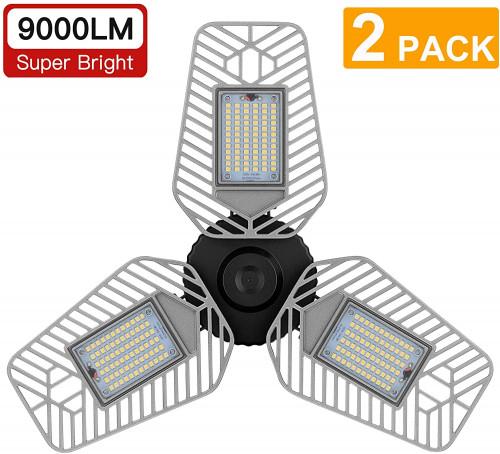 #7. LZHome Aluminum Head Led garage light