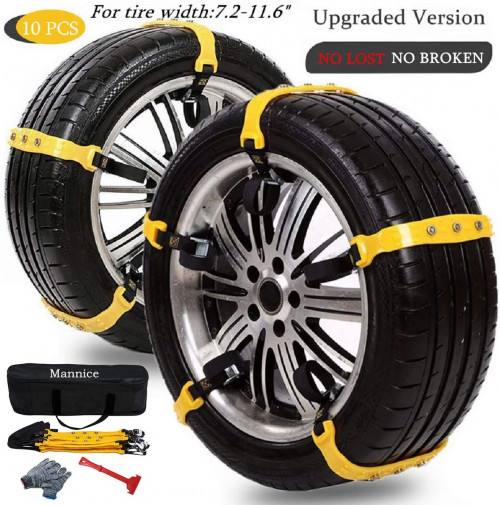 #7. Snow Chains for SUV Car Anti Skid Tire Chain