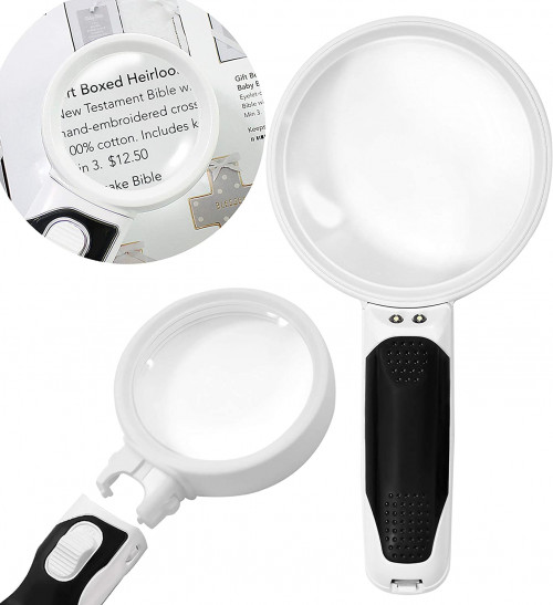 #8. CAVEPOP Magnifying Glasses with Bright LED