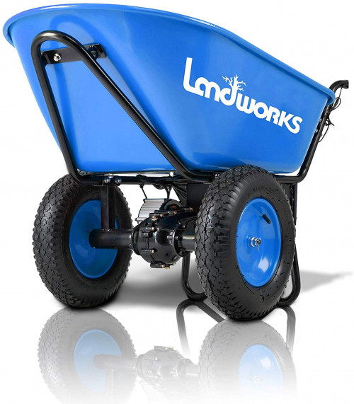 #8. Landworks 2 Wheel Wheelbarrow
