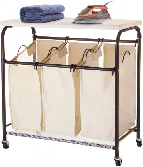 #8. Ollieroo Oxford Fabric Laundry Sorter