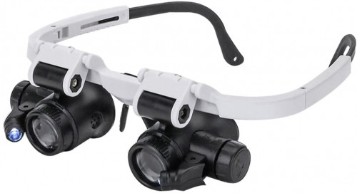 #9. Clobeau LED Headband Magnifying Glasses