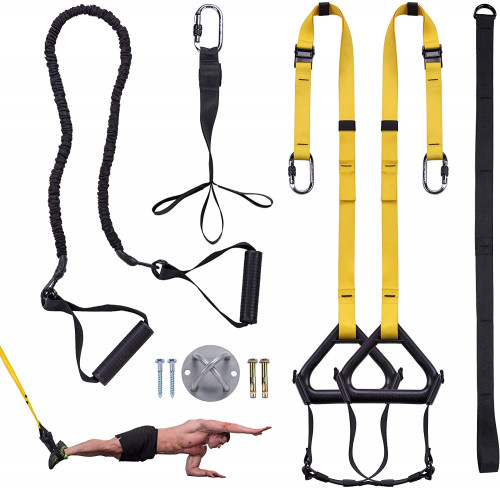 #9. Clothink Suspension Training Straps with Accessories