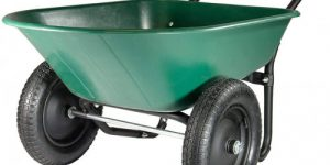 #9. Marastar 2 Wheel Wheelbarrow