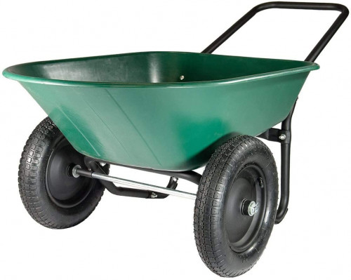 #9. Marastar 2 Wheel Wheelbarrow