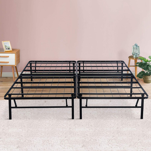 #9. PrimaSleep Dura Metal Foldable Bed Frame