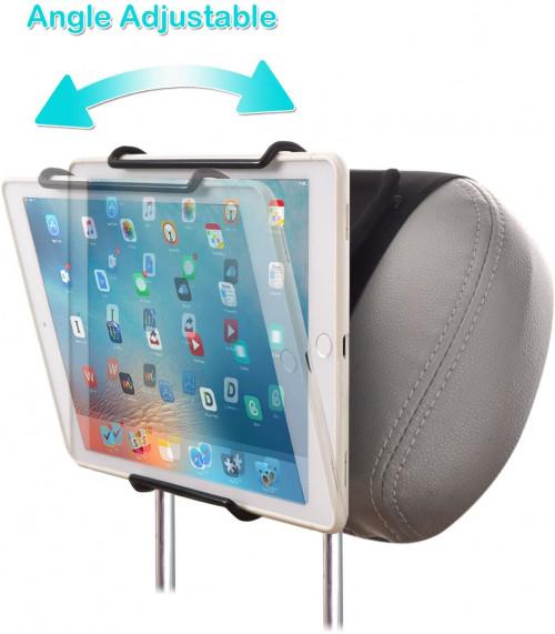 #9. WANPOOL Adjustable iPad Holders for Car