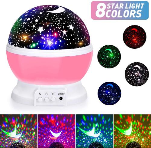 Baby Moon Star Night Light Projector