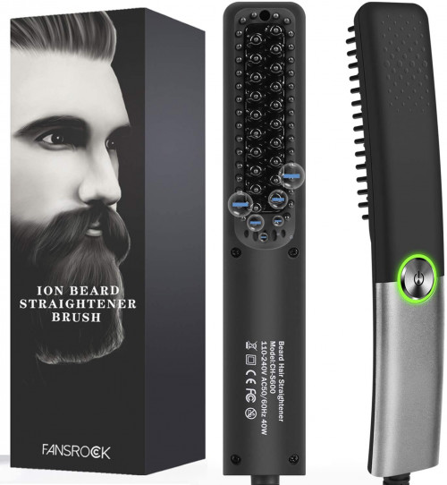 Fansrock Beard Straightener Comb with Silicone Bristles