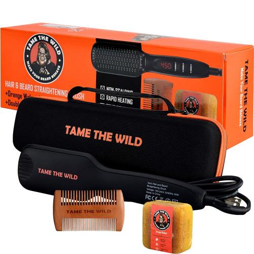 Tame the Wild Beard Straightener Comb Set: