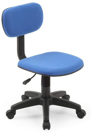 Hodedah Armless Adjustable Height, Low-Back, Swiveling Chair