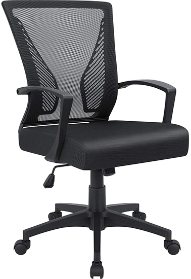 Furmax Office Swivel Mid Back Lumbar Support